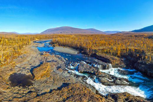 слияние рек Дулисмар и Яктали