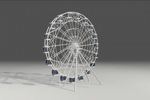 3D модель колеса обозрения на WebGL